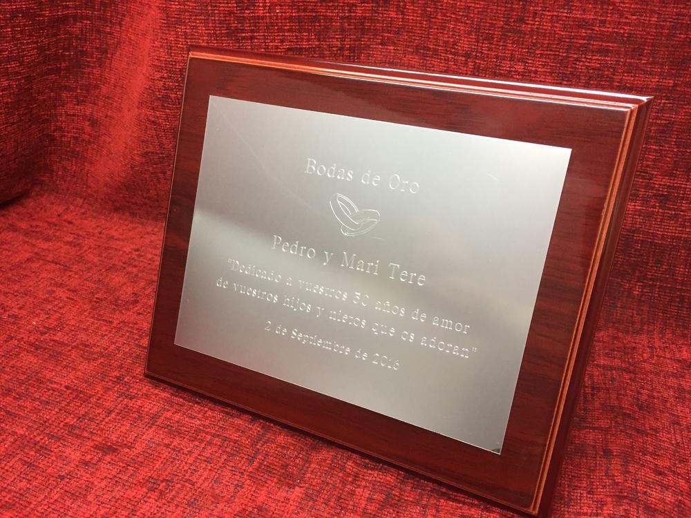 Placas homenaje aluminio placa homenaje madera y aluminio - Placas de aluminio ...
