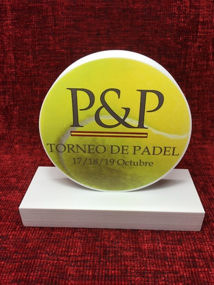 TROFEO COLOR PELOTA TENIS